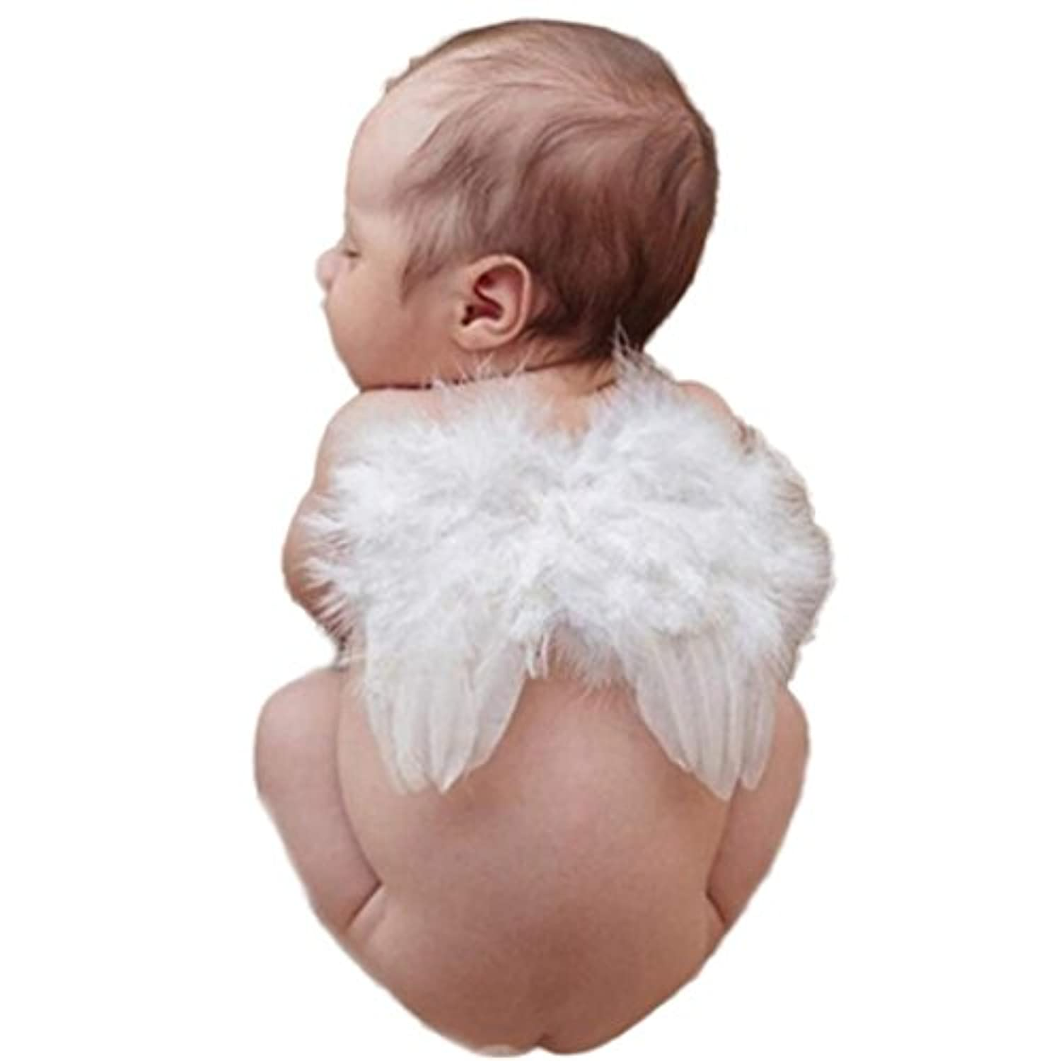 AutumnFall ®新生児幼児ベビーキュートエンジェルFeather Wings Photo Photography Props