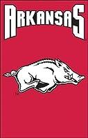 パーティー動物スポーツファンNCAA Team Arkansas Razorbacksアップリケバナー国旗