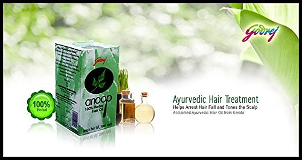アリ派生する傾いたGodrej Anoop Herbal Hair Oil, 50ml