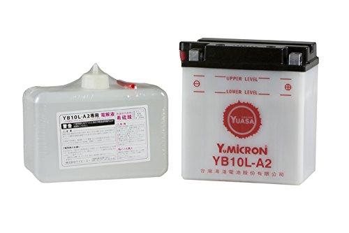 YUASA / YB10L-A2 (YB10L-A2, 12N10-3A-2, GM10Z-3A, FB10L-A2互換) バイク用バッテリー 開放型( グラストラッカー(BA-NJ47A) ボルティーTypeⅠ/Ⅱ/C/T GSX400FS インパルス GS400 GS250FW)