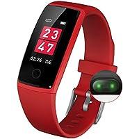 最新版 スマートウォッチ カラースクリーン 血圧 活動量計 心拍計 歩数計 スマートブレスレット 防水 ランニングモード リアルタイム測り 電話着信 LINE SMS 他のAPP通知 iphone&Android対応 日本語説明書 2018