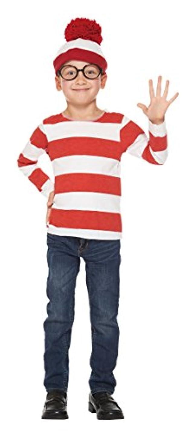 注意エージェント批判ウォーリーを探せ ウォーリー キッズコスチューム 男の子 対応身長100cm-120cm