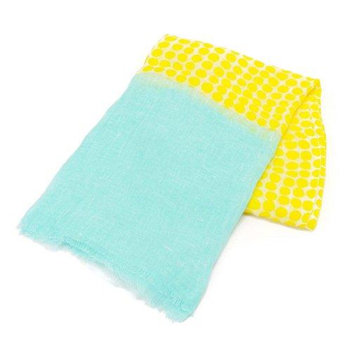 (マリメッコ) Marimekko 37674 RONDO スカーフ/ストール 721/yellow/turquoise [並行輸入品]