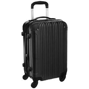 スーツケース (機内持込サイズ(1~3泊/33(拡張時40)L), ブラック)