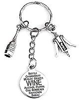 ワインキーチェーン、ワインボトルキーチェーン、Wine Openerチャーム、ワインボトルチャーム、ワインチャームキーチェーン、ギフトfor Wine Lovers、ワインキーリング