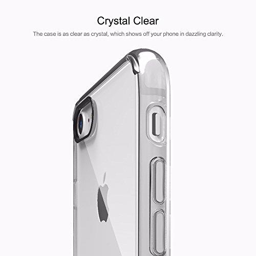 iPhone7 スマホケース ROCK ピュア・クリア シリーズ 黄ばみ防止 TPU+PC(クリア)