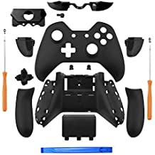 Iycorish Matte Black Controller Housing Shell Full Set Faceplates Buttons for One Controller with The 3.5 mm Headset Jack one controller shell kit with 3.5 port