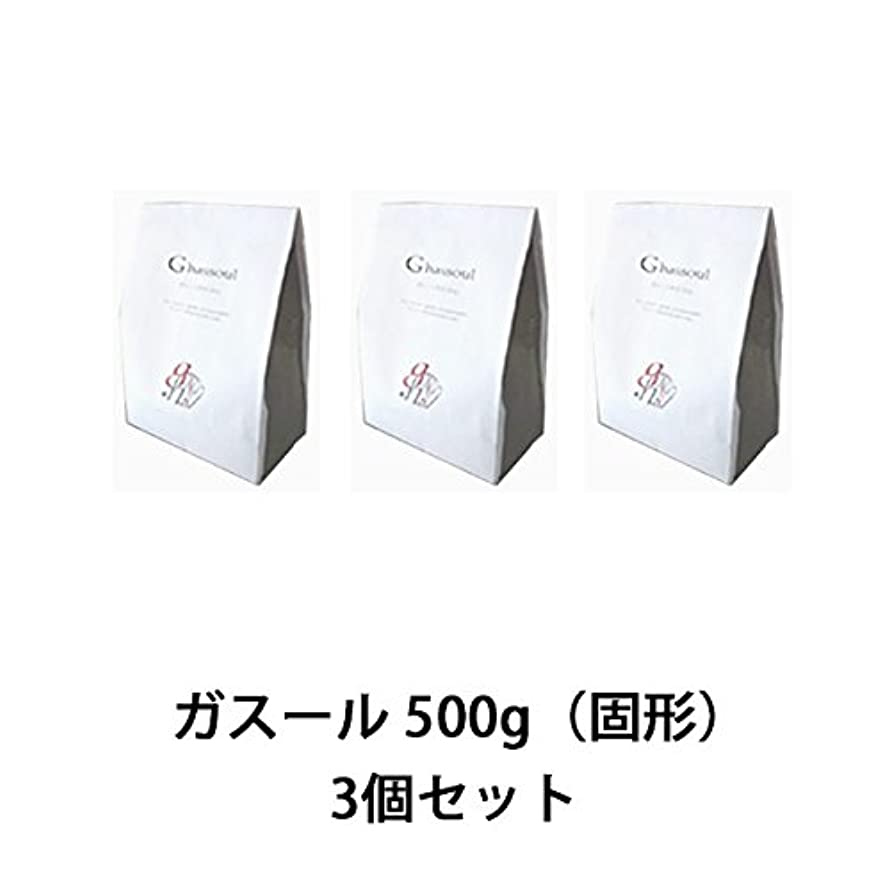 芸術的熱心独裁【ナイアード】ガスール 固形 500g ×3個セット