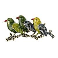 SONONIA 2個入り 鳥形 合金 ブローチ ヴィンテージ ジュエリー