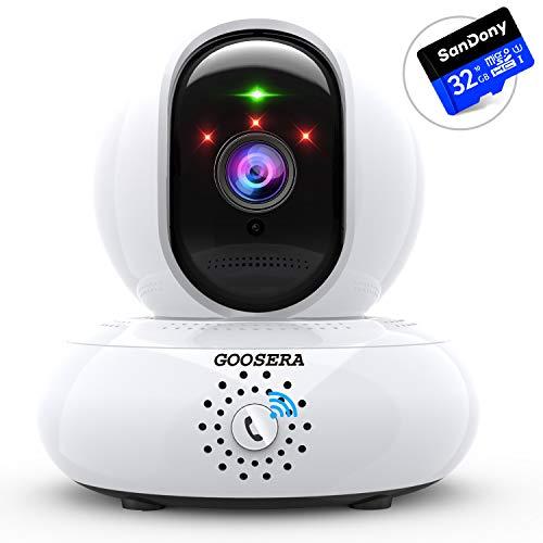 【32GBカード付】 監視カメラ wifi 小型 ネットワー...