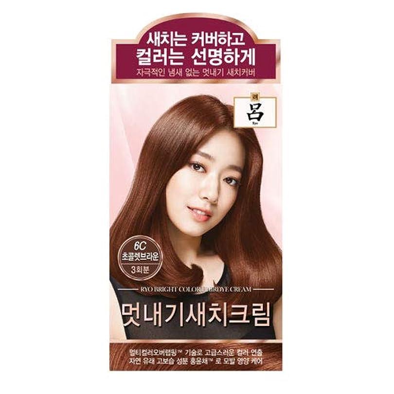 まだ未使用インストールアモーレパシフィック呂[AMOREPACIFIC/Ryo] ブライトカラーヘアアイクリーム 6C チョコレートブラウン/Bright Color Hairdye Cream 6C Chocolate Brown