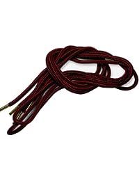 (クツヒモドットコム)靴ひも.com ワークブーツ用靴紐・赤×黒(約4mm) 150cm・160cm・170cm・180cm