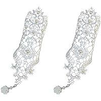 OMAS Bridal Flower Gothic Lace Vampire Vintage Women Handmade Bridal Bracelet Ring Set