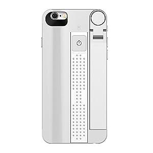 【アリオ】自撮り棒 iPhone7ケース/iphone 8ケース Bluetooth無線 シャッターボタン付け 一体式ケース 伸縮式自撮り棒 軽くて持ち運びに便利 おしゃれ携帯 セルカ棒 携帯 カバー シルバー