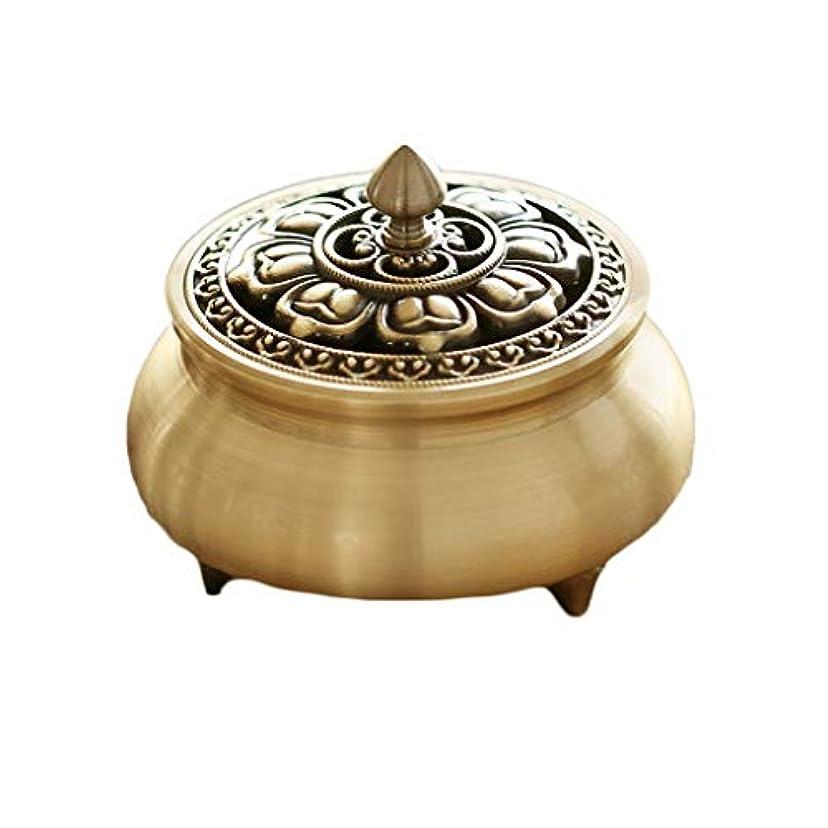 単語ゴールド家芳香器?アロマバーナー 純粋な銅香炉ホームアンティーク白檀用仏寒天香炉香り装飾アロマセラピー炉 アロマバーナー (Color : Brass)