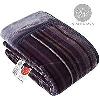 【Amazon.co.jp 限定】昭和西川(Showa-nishikawa) 毛布 グレー シングル あたたか2枚合わせ毛布 肌触りなめらか毛布 2230554450930