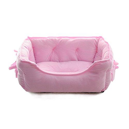 Ninkipet(ニンキペット)可愛い洗えるペット用ベッド ペット用ソファ クッション 夏冬 通年利用 丸洗いできる 中小型犬/猫 (S, ピンク)