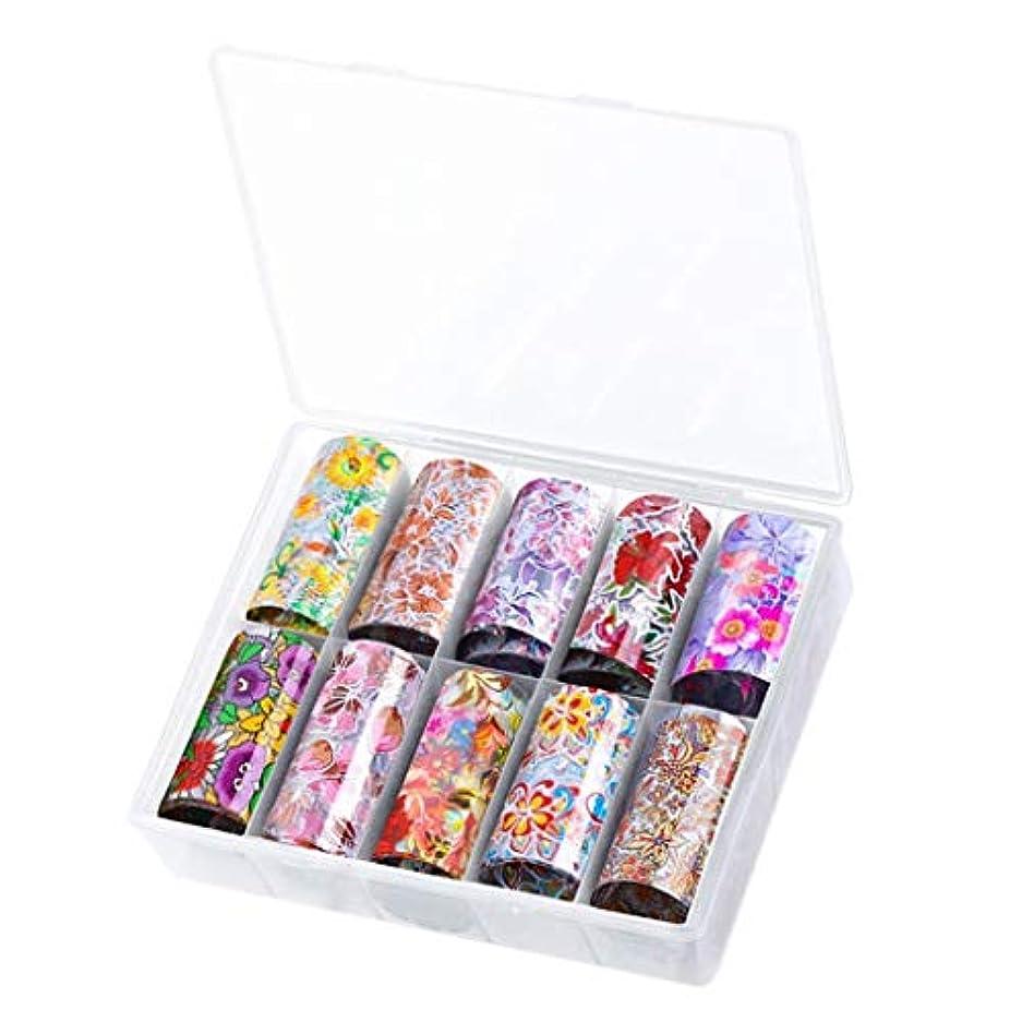 豆腐ありふれた重要T TOOYFUL 10シート ネイルアート ステッカー マニキュア ヒント デカール デコレーションツール 全8種類 - 4