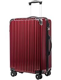 [クールライフ] COOLIFE スーツケース キャリーバッグダブルキャスター 一年安心保証 機内持込 ファスナー式 人気色 超軽量 TSAローク