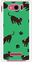 ohama SHL24 AQUOS PHONE SERIE mini アクオスフォン ハードケース y043_e アニマル 猫 肉球 黒猫 キャット スマホ ケース スマートフォン カバー カスタム ジャケット au