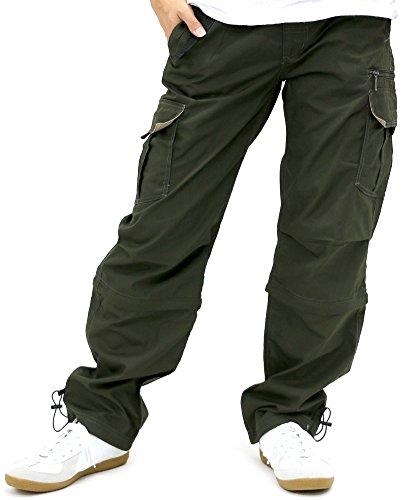 BARCEDOS(バルセドス) カーゴパンツ ロング 2WAY 7分丈 ショートパンツ メンズ カーキ LL