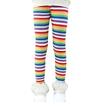 Rysly Girls Winter Thick Warm Long Pants Printing Fleece Lined Leggings Rainbow 150
