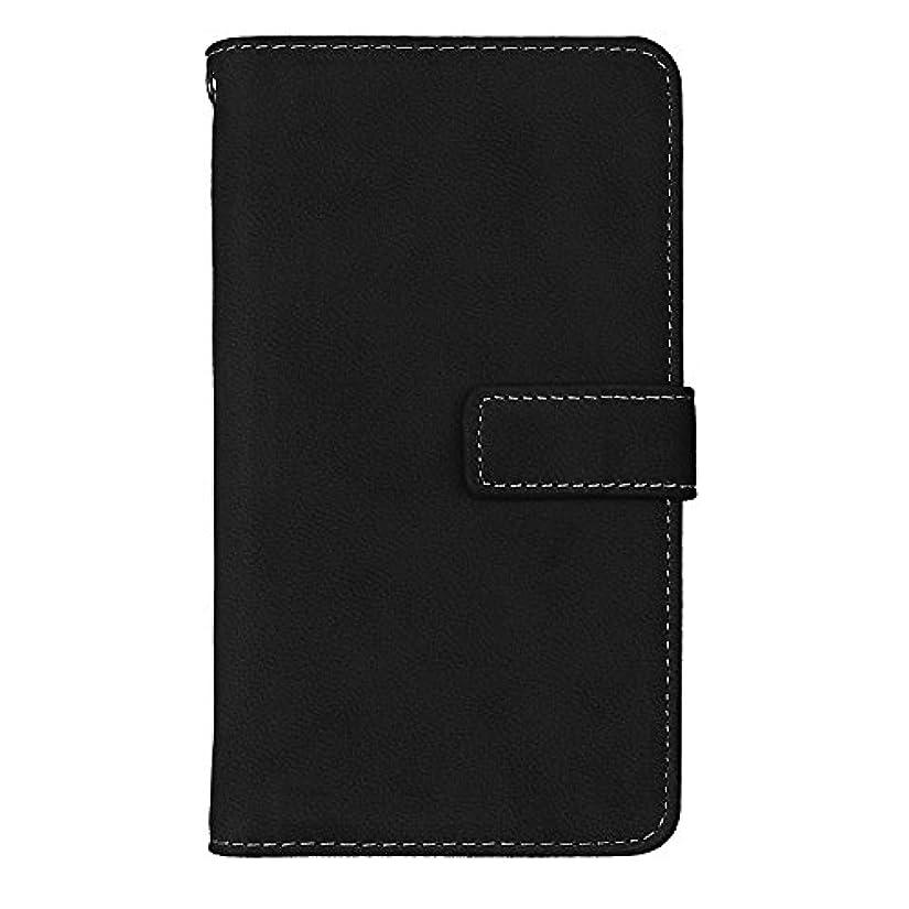 いっぱい異常なノミネートGalaxy J5 2016 高品質 マグネット ケース, CUNUS 携帯電話 ケース 軽量 柔軟 高品質 耐摩擦 カード収納 カバー Samsung Galaxy J5 2016 用, ブラック