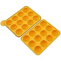 wangten シリコンケーキモールド 金型 製菓用具 お菓子 ケーキ金型 DIY 半円形 ベーキングモールド 12連円形 手作り道具 ベーキングツール