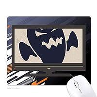 怒ったハロウィン幽霊 ノンスリップラバーマウスパッドはコンピュータゲームのオフィス