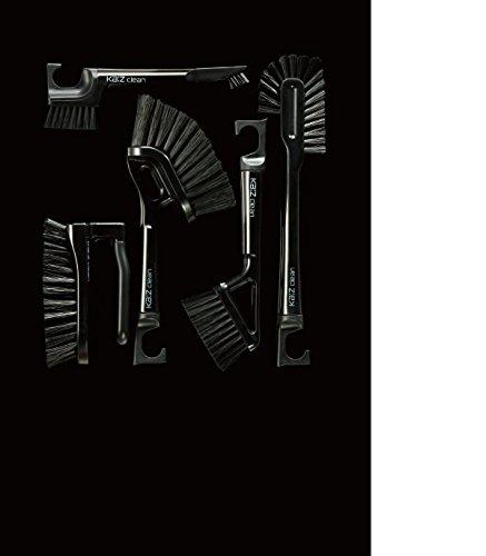 [해외]Ka : z 욕실 청소 브러쉬 5 종 세트 블랙/Ka: z Bathroom cleaning brush 5 types of set black