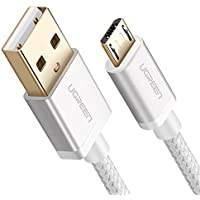 UGREEN Micro USB ケーブル Quick Charge 充電 マイクロ USB 2.0 Xperia、HTC、Galaxy S7 S6 Note、LG、Nexus、Nokia、PS4、Xbox One等のAndroid USBデバイスに対応 ナイロン編み 1m