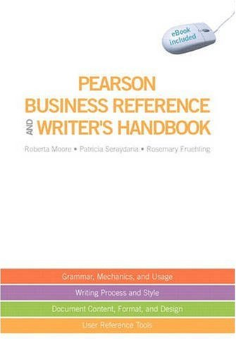 Download Pearson Business Reference and Writer's Handbook (with downloadable ebook access code) 0135140536