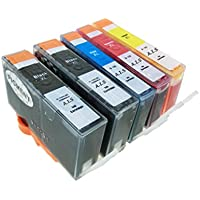 HP178XL (PGBK【顔料】×2/C/M/Y) 5本パック(増量サイズ) [HP]ヒューレット・パッカード 新互換インクカートリッジLED・残量表示付き (最新型ICチップ付き)  【A.I.S製品】
