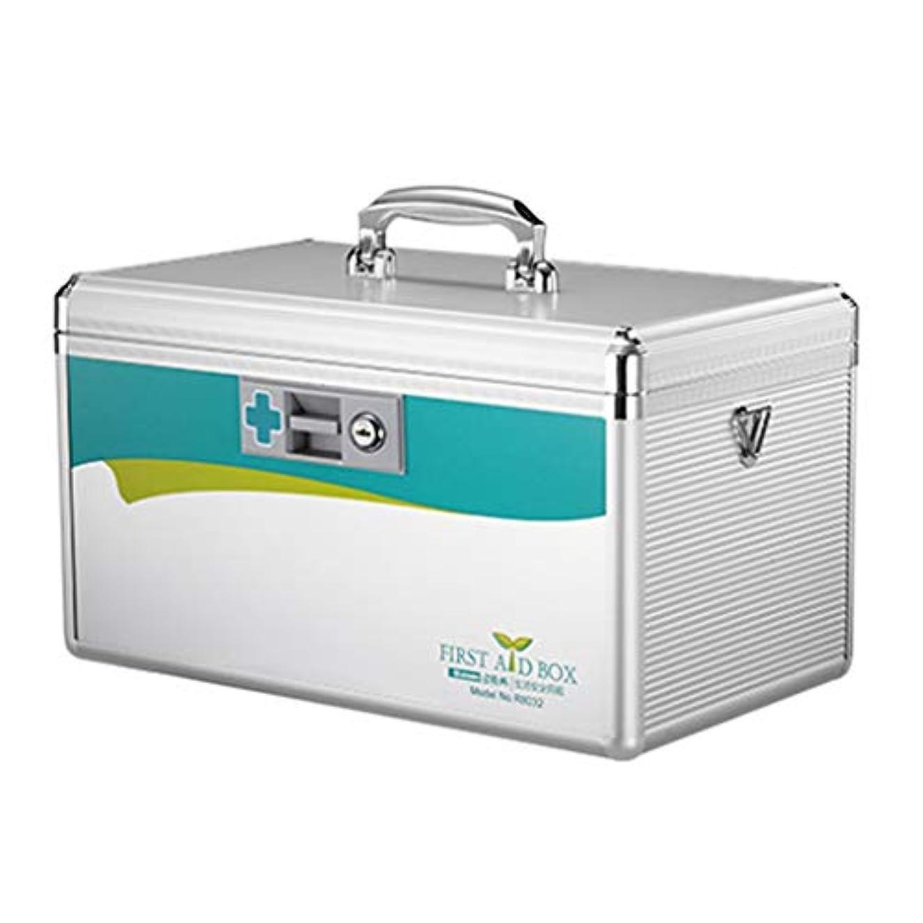 正確に泥集中ロックオーガナイザー付きの医療ボックス、取り外し可能なトレイコンパートメント付きの小さな薬のロックボックス、のチャイルドプルーフ処方収納ボックス