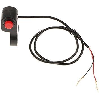 プッシュスイッチ ハンドルバースイッチ ホーンボタン 交換部品 オートバイ ATV用 取り付け簡単