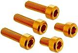 DURA-BOLT(デュラボルト) タンクキャップボルト アルミ 5本セット ゴールド ZX-9R 00-01/ZRX1200/ZZR1200/ZZR1400 06-08 DBT004/2G