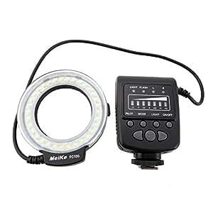 優良Meike製 Macro RING LED マクロリングライト LEDストロボ 常時点灯/瞬間発光両方可能 接写撮影に FC100 ニコン用