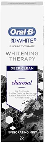 Oral-B 3DWhite Whitening Therapy Deep Clean Charcoal 95g,