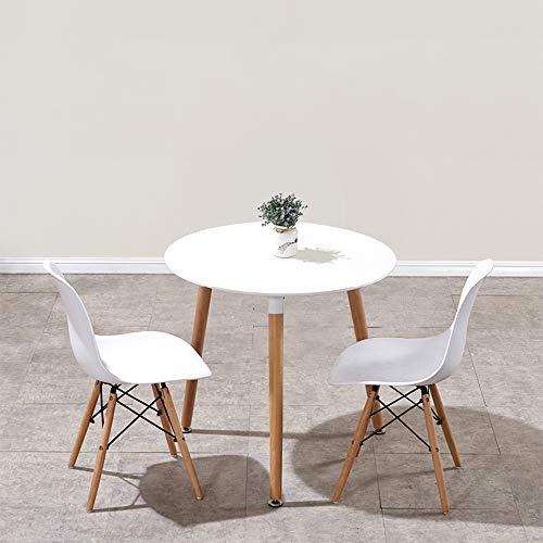 「Probasto」カフェテーブルとチェアセット アイリスプラザ テーブル イームズ ダイニングテーブル Eames TABLE DSW 円形丸型 北欧 ミッドセンチュリー インテリア ウッドレッグ