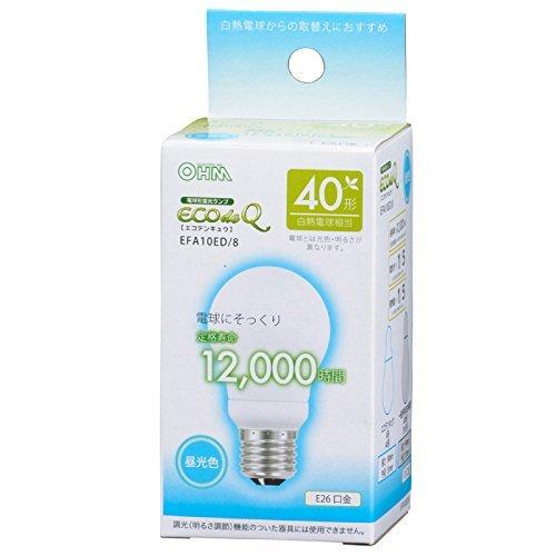 電球形蛍光灯 E26 40形相当 昼光色 エコデンキュウ_EFA10ED/8 06-0270