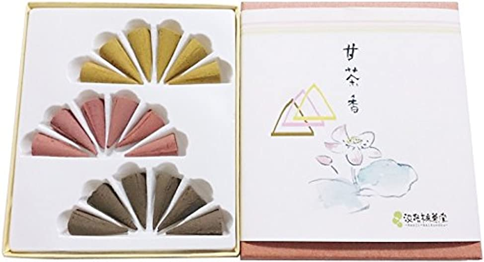 代わって一緒に怪物淡路梅薫堂のお香セット 詰め合わせ 柔和慈悲沈香甘茶香 円錐 18個入( コーンタイプ 各6個 ) 日本製 #50 gifts incense cones japanese