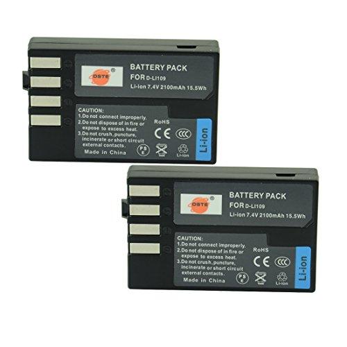 DSTE® アクセサリーキット Pentax D-LI109 互換 カメラ バッテリー 2個+充電器キット対応機種 K-R K-30 K-50 K-500 KR K30 K50 K500 K-S1 K-S2