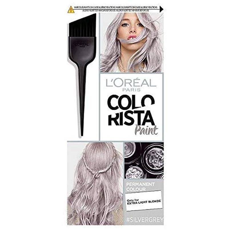 クロニクルスロット成り立つ[Colorista] Colorista髪は10.1シルバーグレーペイント - Colorista Hair Paint 10.1 Silver Grey [並行輸入品]