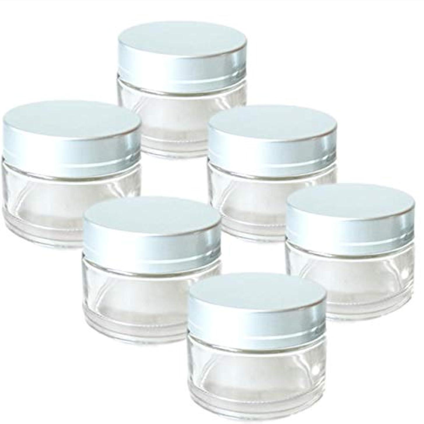 いとこ留まる質量rer ハンドクリーム 詰替え 容器 薬 ワセリン 入れ 6個 セット (クリア)