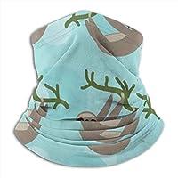 スリートゥナマケモノフリースネックウォーマーメンズ-寒い天候用の防風ネックゲーターフェイスマスク-冬の野外活動用のフェイススカーフ