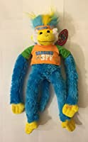 """Hanging Mohawk Monkey 48cm Plush """"Hanging With My BFF"""" (Blue, Orange)"""