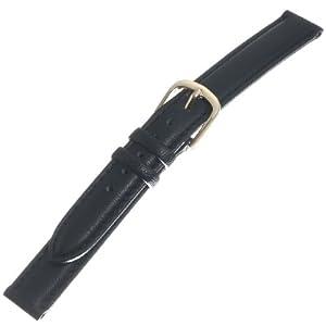 [トップモア]TOP MOA 時計バンド カーフ・ステッチ 黒12mm 01865