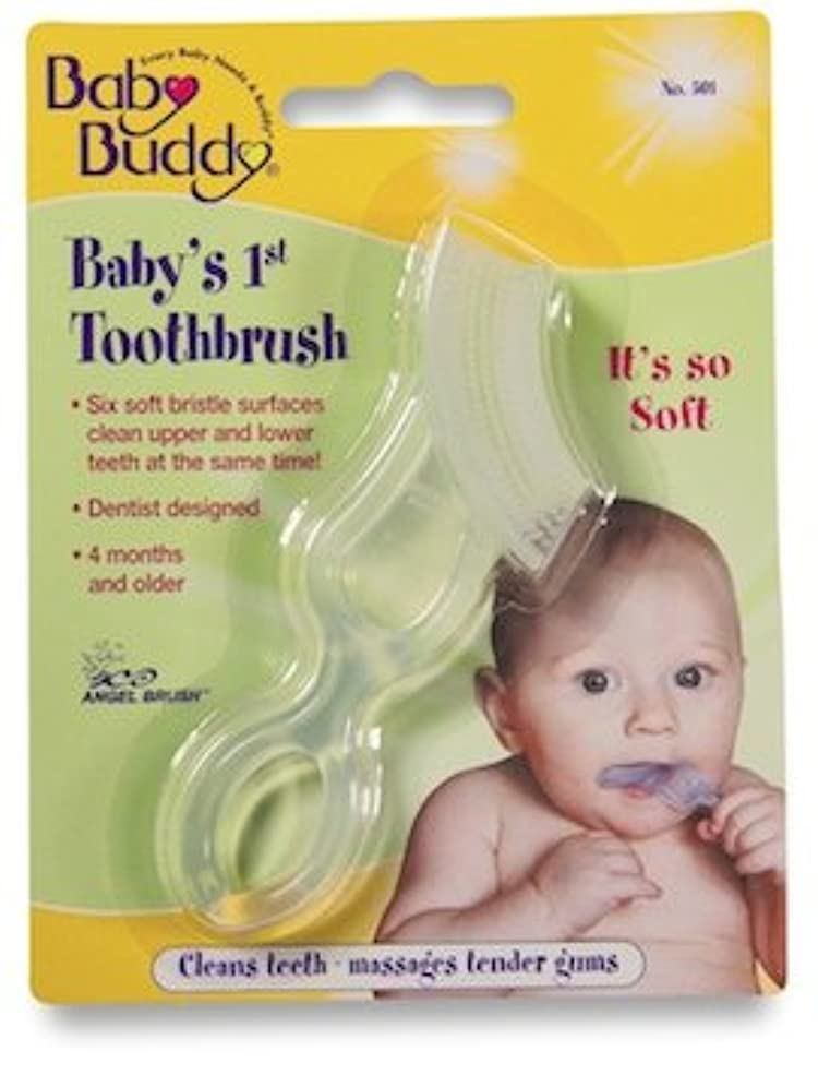 参照ピジンメモBaby Buddy Baby's 1st Toothbrush 2ct (Clear)