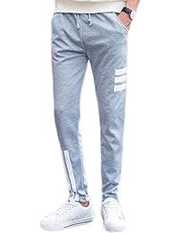 [コズーン] B33 ジョガーパンツ ラインパンツ スウェットパンツ メンズ スキニー スリム スエット ズボン ジャージ 3本ライン ボトムス