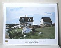 エドワード・ホッパー スクアム ライトの家 グロスター【フレーム+ポスター】約 61x81cm ゴールド(ヘアライン)